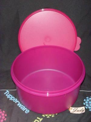 """Tupperware Round 12"""" Cake Taker GIANT 42 Cup Carry All Canister Vineyard NEW"""