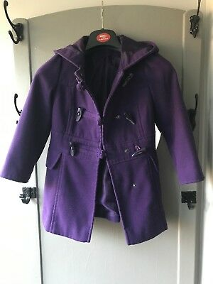 Girls Purple Duffle Coat from George 5-6 year old