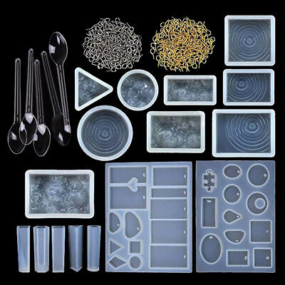 121pcs/set sorted designs resin casting molds silicone jewelry making molds diyT
