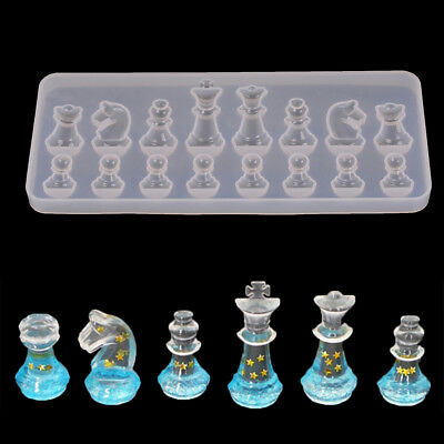 International chess shape silicone mold diy clay epoxy resin mold pendant mold T