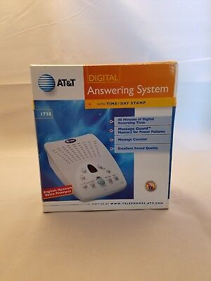 NEW AT&T 1738 Digital Answering System English Spanish 40 minute record time