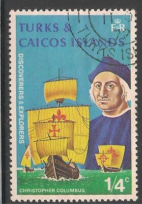 Turks & Caicos Islands #253 (A46) VF USED - 1972 1/4c Christopher Columbus