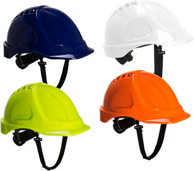 PORTWEST PS55 Endurance white,blue,orange or yellow hard hat safety helmet