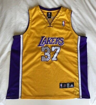 9dd57c805 Adidas Ron Artest  37 Los Angeles Lakers Gold Swingman Nba Jersey Size 52