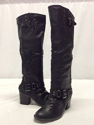 1c2207ccdff59 STYLE & CO Size 6 M AMUSE BLACK Knee High Boots New Womens Shoes ...