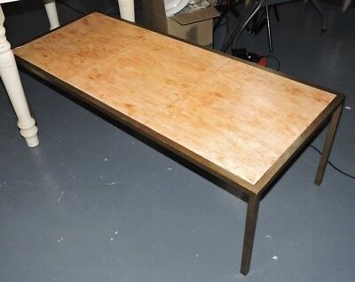 Brass Parchment Retro Coffee Lounge Table