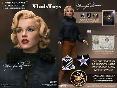"Star Ace 1/6 scale 12"" Marilyn Monroe Military Outfit Figure w/Patchs SA0055 USA"