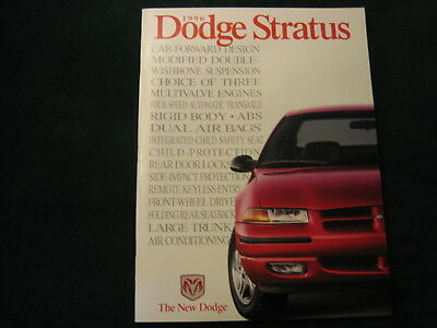 Mint 1996 Dodge Stratus Dealer Sales Brochure ~ #853