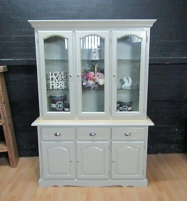 Solid Hard Wood Welsh Dresser - Farrow&Ball No 18 FRENCH GRAY