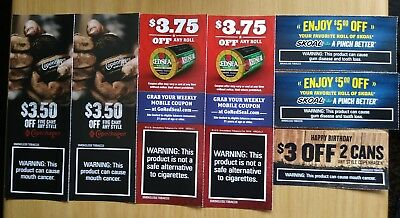 Skoal Copenahgen Red Seal tobacco coupons