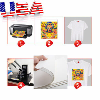 100* A4 Dye Sublimation Heat Transfer Paper for Polyester Cotton T-shirt Mug Cup
