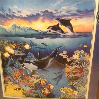 gallery crewel kit dimensions ORCA'S REALM. New . whales