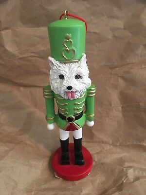 West Highland Terrier Westie Dog Soldier Holiday NUTCRACKER ORNAMENT