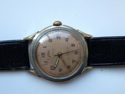 Mens Antique Jolus 17 Jewels 24 Hour Dial Swiss Manual Wind Watch Spares Repairs
