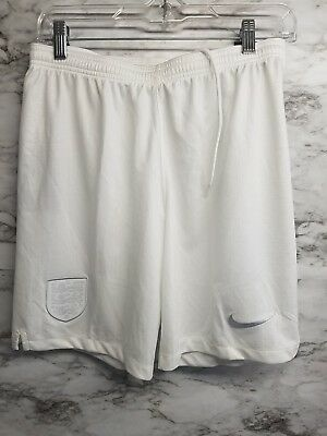 1fe358b60d65 New Nike 2018 England Size S Home Stadium Soccer Shorts World Cup White
