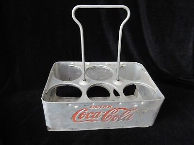 Vintage Aluminum Coca Cola Bottle Carrier