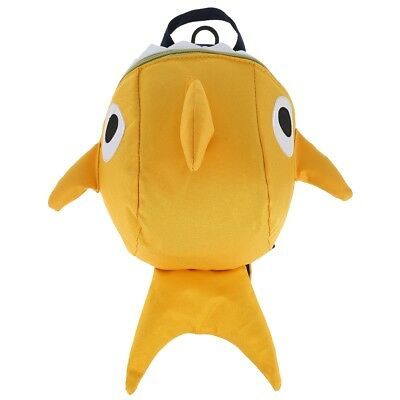 Cartoon Shark Shape Kindergarten Backpack with Anti-lost Rope