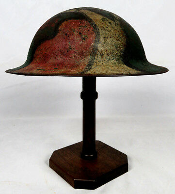 Original Wwi Camouflage Painted Us M1917 Helmet Shell **no Reserve!!!**