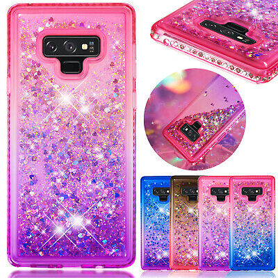 For Samsung Galaxy S9 Case A7 J4 J6 Plus 2018 Bling Quicksand Diamond TPU Cover