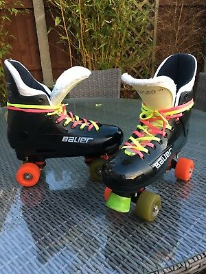 Bauer Turbo 33 Quad Roller Skates. UK Size 10