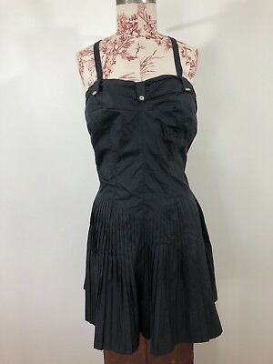 Vintage 1950's XL Black Catalina Nylon Swimming Suit / Dress