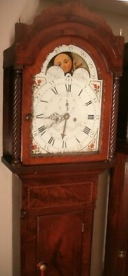 "Antique  Mahogany  "" Tamworth""  Moon  Dial   Longcase / Grandfather Clock"