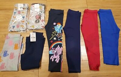 Girls 8 x legging bundle Next Size 4-5 years No Reserve