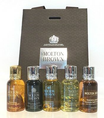 Molton Brown MEN'S CHRISTMAS Gift Set  *5 x 30mls/GIFT BAG/NEW*