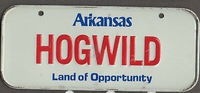 1987 Arkansas   Mini Cereal Type  BICYCLE  license plate