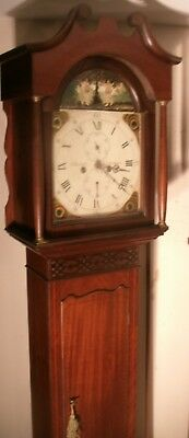 "Antique Mahogany   Adam & Eve   "" Kirriemuir ""  Longcase / Grandfather  Clock"