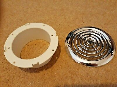 Manrose DPR 100 Chrome Grille - Extractor Fan Vent - 4 inch 100mm