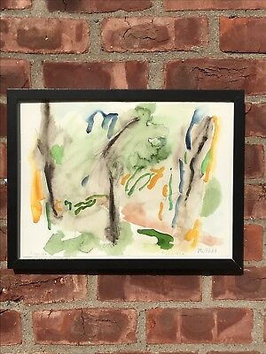 New York Abstract Artist Jack Roth Signed Watercolor Elaine G Weitzen Collection
