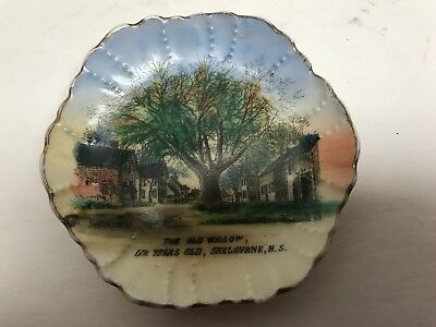 The Old Willow tree Over 100 Years Old Shelburne Nova Scotia Advertising Plate