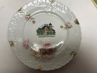 High School Fort Madison, Iowa early 1900's  vintage Advertising plate