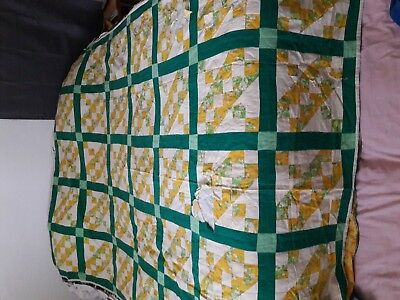 Antique vintage hand sewn quilt.  Twin/full size