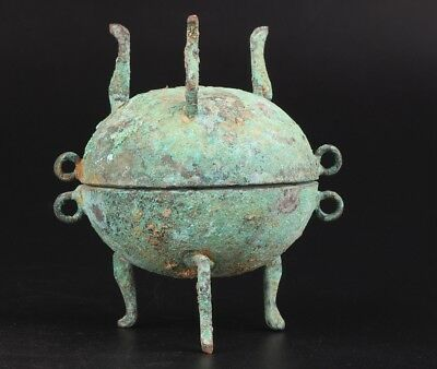 Ancient Bronze Pendant Statue Incense Burner Old Xiangding Buddhist Collection