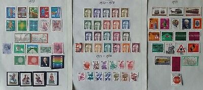 Lot of Germany Year 1970 to 1979 Old Stamps Used/MNH
