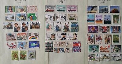 Lot of Great Britain Year 1981 to 1990 Stamps Used