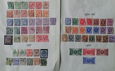 Lot of Great Britain Year 1912 to 1951 Stamps Used/MH