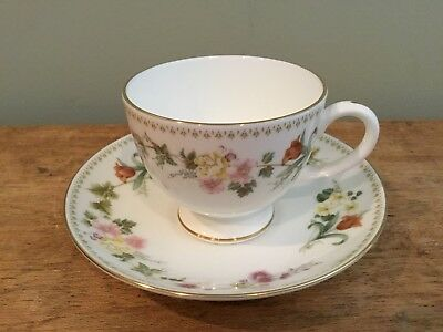 WEDGWOOD Bone China MIRABELLE TEA CUP & SAUCER
