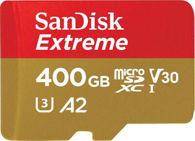SanDisk 400GB Extreme Micro SD SDXC Memory Card GoPro Dji Drone Action Camera
