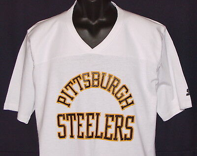 Vintage 80s/90s Pittsburgh STEELERS T-Shirt STARTER *NFL PRO LINE* NEW Old Stock