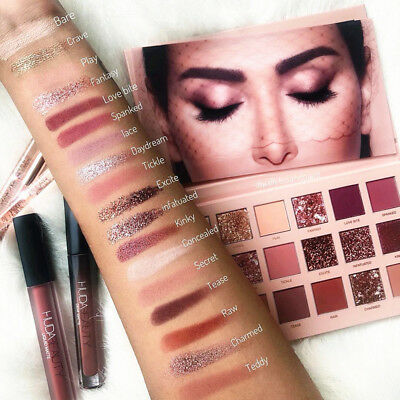 Huda Beauty The New Nude Matte 18 Colors Eyeshadow Palette Shimmer Make Up AU