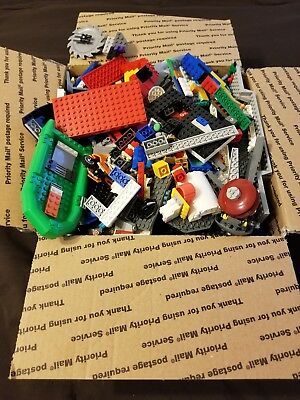 Huge Assorted/Mixed Lot Of Lego Boats Police Planes Large Flat Rate Box Full