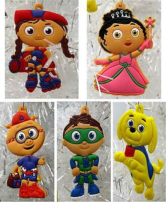 Super Why Christmas Ornaments 5 Piece Set Featuring Alpha Pig and Princess Pea