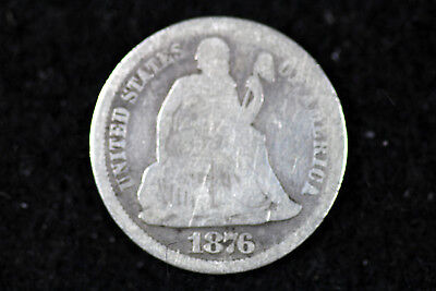 ESTATE FIND 1876 CC  Seated Liberty Dime  #D16255