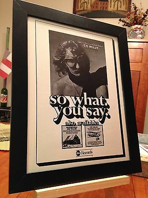 "2 FRAMED JOE WALSH ""SO WHAT"" & ""SICK MIND"" LP ALBUM CD PROMO ADS + free BONUS!"