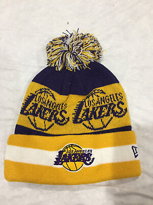 NBA LOS ANGELES LAKERS Pom  Beanie Knit Cap Team Colors