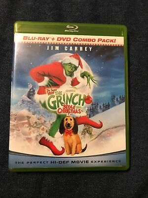 Dr. Seuss' How the Grinch Stole Christmas! Blu-Ray + DVD RARE GREEN CASE