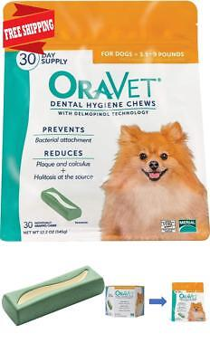 Dental Hygiene Chews Oravet For Small Dogs 3.5-9 Lbs, 30 Count